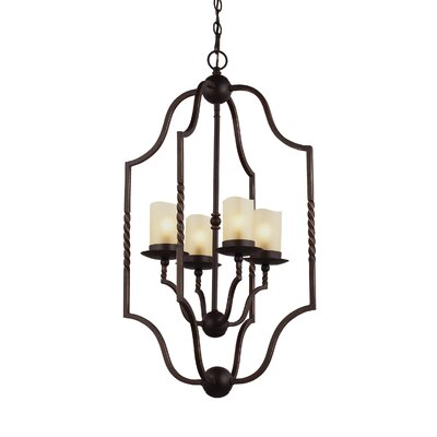 Bungalow 4-Light Foyer Pendant