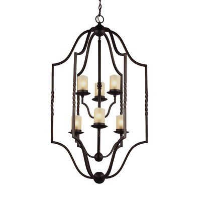 Bungalow 6-Light Foyer Pendant