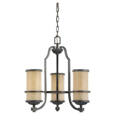 Bale 3-Light Shaded Chandelier Bulb Type: Incandescent A19 100W