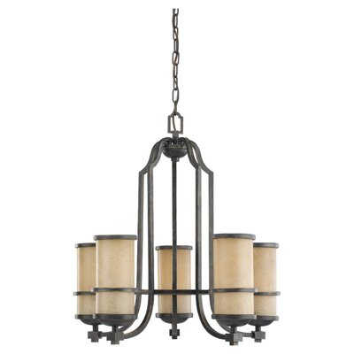 Bale 5-Light Shaded Chandelier Bulb Type: Incandescent A19 100W