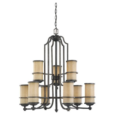 Bale 9-Light Shaded Chandelier Bulb Type: Incandescent A19 100W