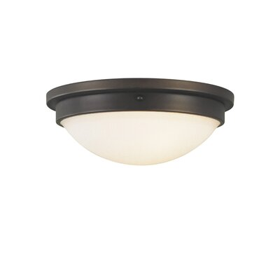 Lantz 2-Light Flush Mount Bulb Type: Self Ballasted CFL GU24 13W, Finish: Polished Nickel