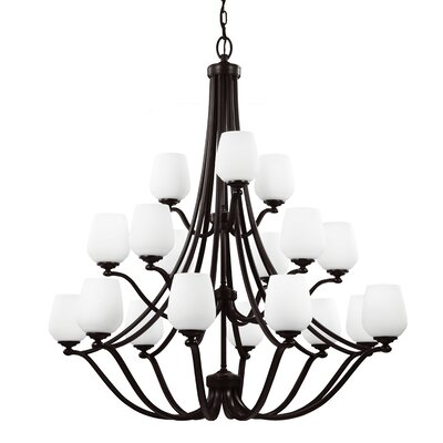 Eyers 18-Light Shaded Chandelier Bulb Type: A19 Medium 75W