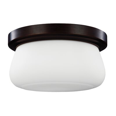 Eyers 2-Light Flush Mount Finish: Heritage Bronze, Bulb Type: A19 Medium 40W