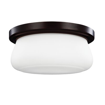 Eyers 2-Light Flush Mount Finish: Heritage Bronze, Bulb Type: 19 Medium 60W