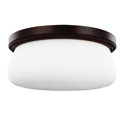 Eyers 3-Light Flush Mount Finish: Heritage Bronze, Bulb Type: A19 Medium 60W