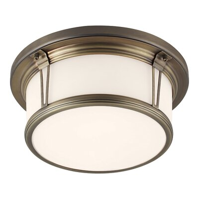 Eyers 2-Light Flush Mount Finish: Polished Nickel