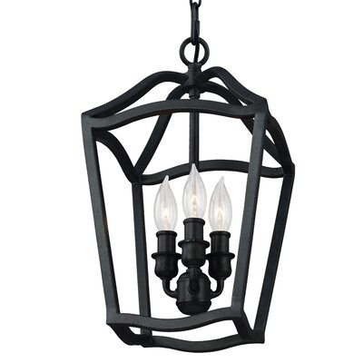 Nicoll 3-Light Pendant Finish: Painted Aged Brass