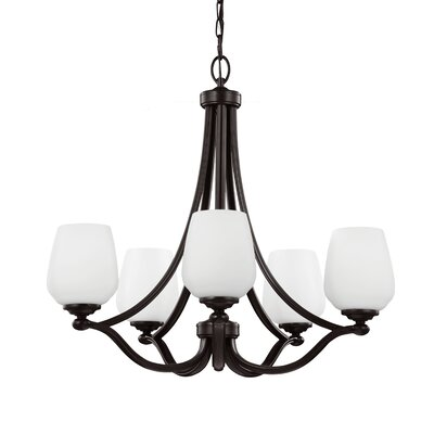 Eyers 5-Light Shaded Chandelier