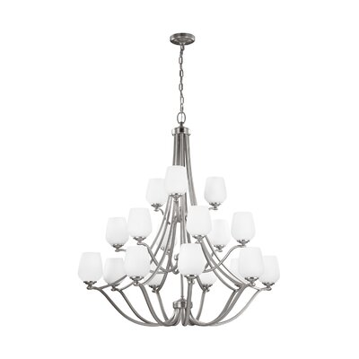 Eyers 18-Light Shaded Chandelier
