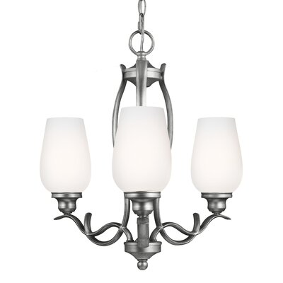 Pavilion 3-Light Shaded Chandelier Finish: Oil Rubbed Bronze