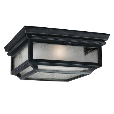 Hague 2-Light Flush Mount Finish: Dark Weathered Zinc