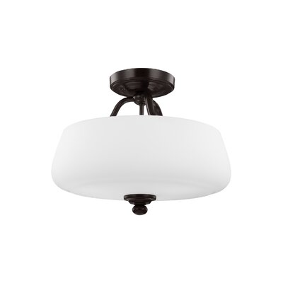 Eyers 3-Light Semi-Flush Mount