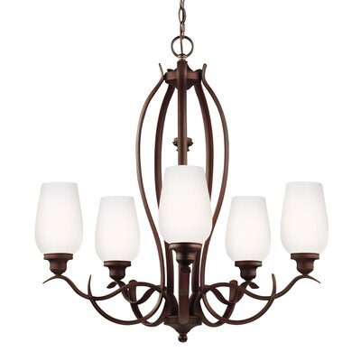 Pavilion 5-Light Shaded Chandelier Finish: Oil Rubbed Bronze