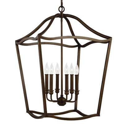 Nicoll 6-Light Foyer Pendant Finish: Painted Aged Brass