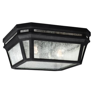 Maxine 2-Light Flush Mount Finish: Black