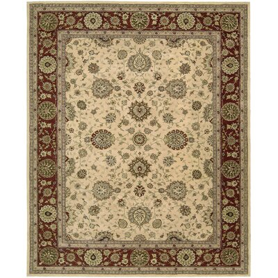 Norfolk Hand Woven Wool Beige Indoor Area Rug Rug Size: 99 x 139
