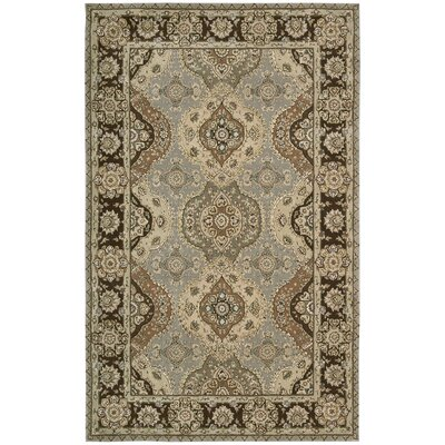 North York Hand Woven Wool Gray/Brown Indoor Area Rug
