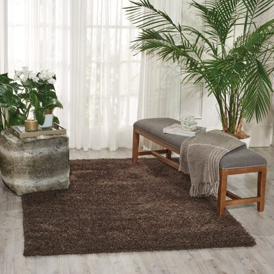 Alvordton Hand-Tufted Brown Area Rug
