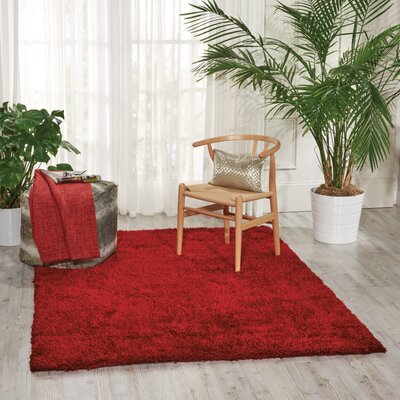 Alvordton Hand-Tufted Red Area Rug