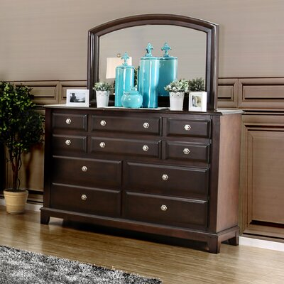 Daleville 10 Drawer Dresser with Mirror