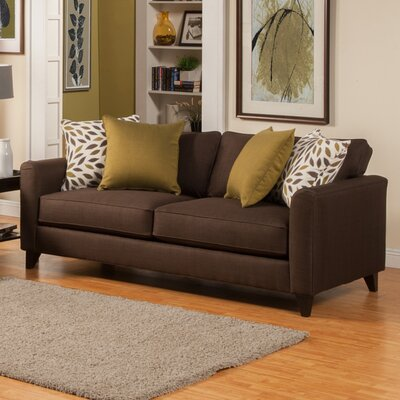 Amberley Contemporary Flared Arm Sofa Upholstery: Turquoise