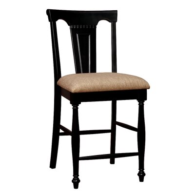 Amandes Side Chair Color: Black