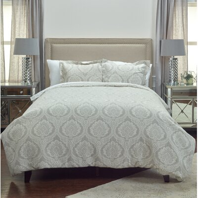 Aziz Linen Duvet Cover Size: Full/Queen