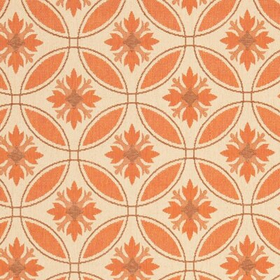 Nyles Battle Creek Beige/Orange Indoor/Outdoor Area Rug Rug Size: 53 x 77