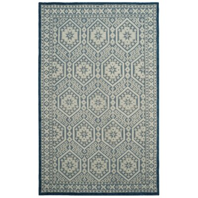 Baum Hand-Knotted Blue Area Rug Rug Size: Rectangle 6 x 9