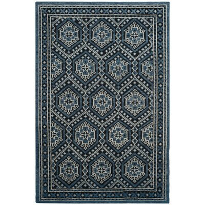 Baum Hand-Knotted Navy Area Rug Rug Size: Rectangle 8 x 10