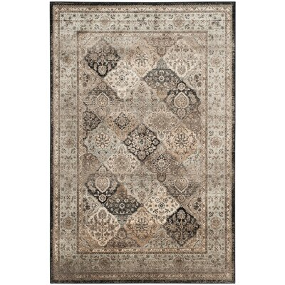 Randalholme Light Blue/Light Beige Area Rug Rug Size: 51 x 77