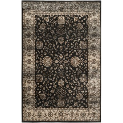 Jules Black/Ivory Area Rug Rug Size: Rectangle 51 x 77