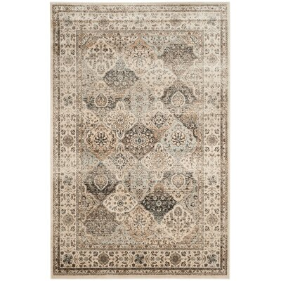 Jules Light Blue/Ivory Area Rug Rug Size: Rectangle 51 x 77