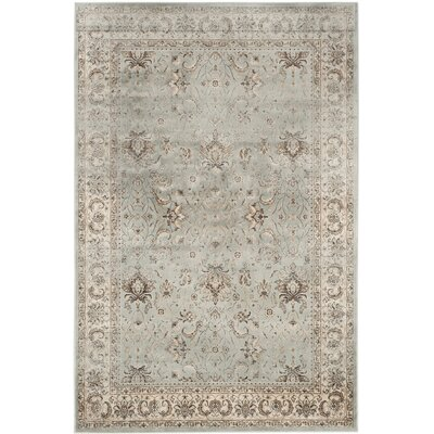 Jules Beige/Gray Area Rug Rug Size: Rectangle 53 x 76