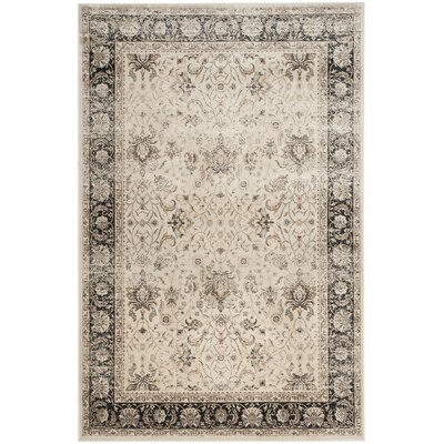 Jules Beige/Black Area Rug Rug Size: Rectangle 8 x 11
