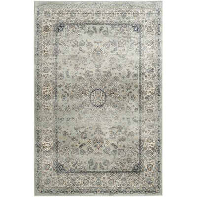 Jules Light Gray/Ivory Area Rug Rug Size: Rectangle 53 x 76