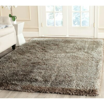 Highlawn Bavaria Hand-Tufted Silver Area Rug Rug Size: Square 6