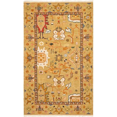 Linwood Hand-Woven Wool Orange Area Rug Rug Size: Rectangle 6 x 9