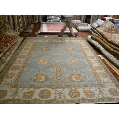 Linwood Hand-Woven Light Blue/Ivory Area Rug