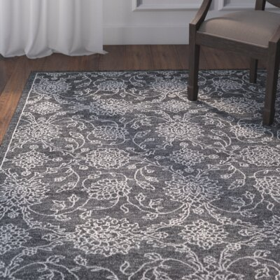 Hoffman Charcoal/Parchment Area Rug Rug Size: 9'2 x 12'5