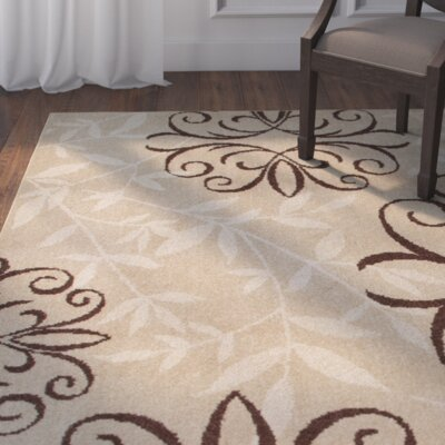 Dubuque Beige/Brown Indoor/Outdoor Area Rug