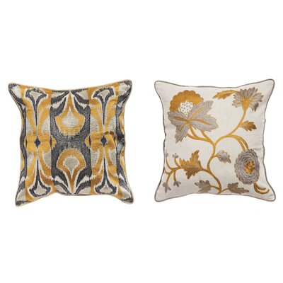 Amato 2 Piece Cotton Throw Pillow Set