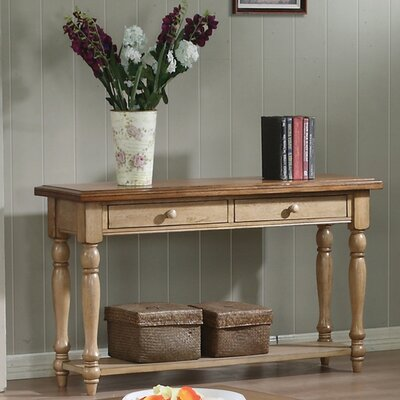 Ivesdale Console Table Finish: Almond & Wheat