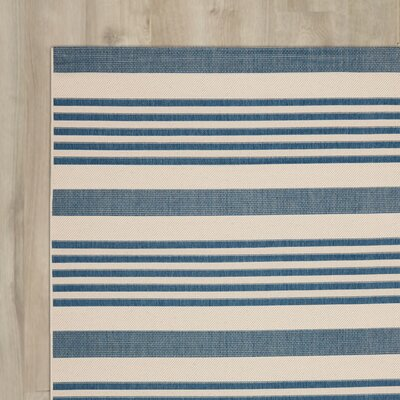Bellingdon Blue/Beige Indoor/Outdoor Area Rug Rug Size: Runner 27 x 5