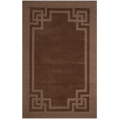 Deco Hand-Loomed Beige/Brown Area Rug Rug Size: 8 X 10
