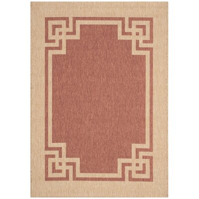 Deco Brown/Beige Area Rug Rug Size: 53 x 77