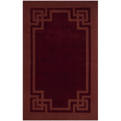 Deco Tufted-Hand-Loomed Red/Brown Area Rug Rug Size: 9' x 12'