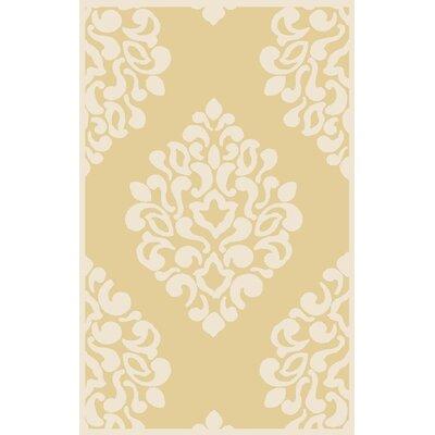 Floret Hand-Loomed Beige/Ivory Area Rug Rug Size: 8 x 10