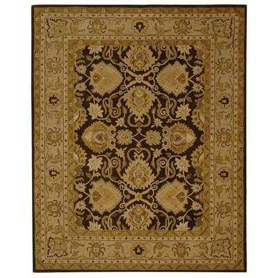 Cardwell Hand-Tufted Wook Brown / Beige Area Rug